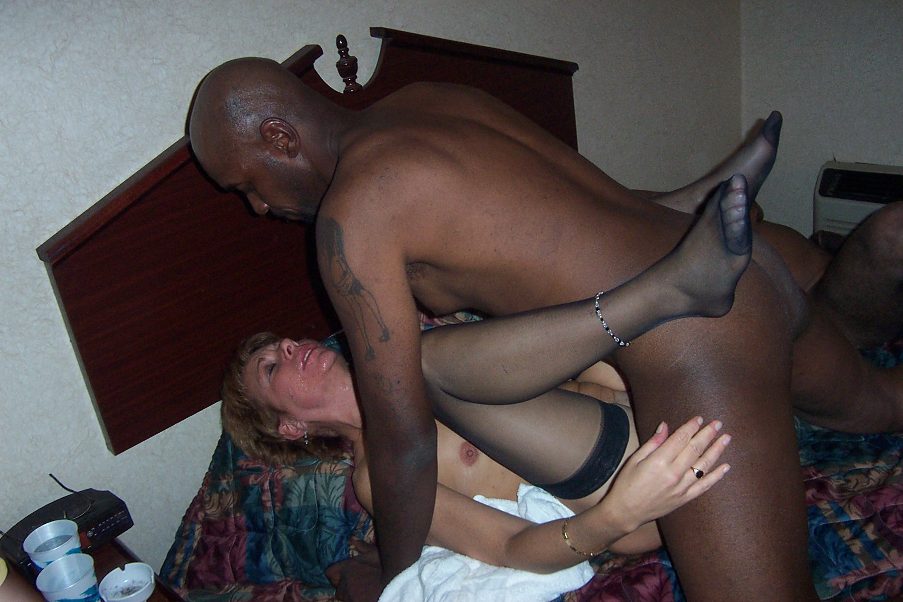 White wife getting rammed